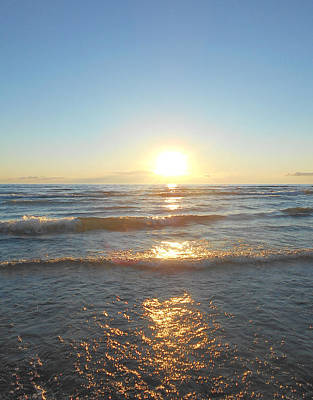 Sauble Photograph - Sunset At Sauble Beach  by Richard Andrews