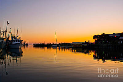 Sunset At Shem Creek Print by Matthew Trudeau
