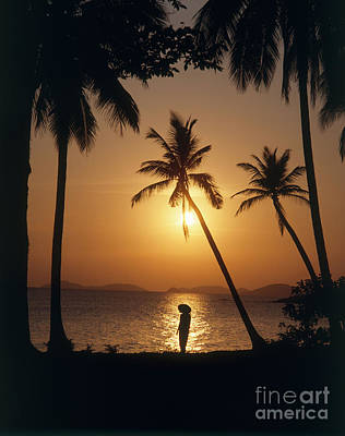 Binh Photograph - Sunset At The Beach, Vietnam by Paul Stepan-Vierow