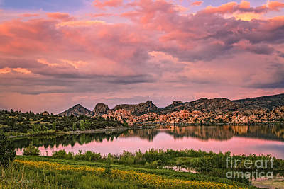Watson Lake Photograph - Sunset At The Dells by Medicine Tree Studios