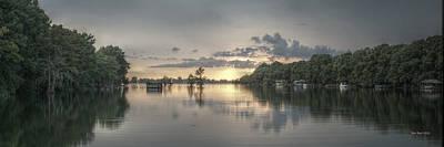 Louisiana Digital Art - Sunset At The Lake by Ron  Burt