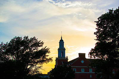 Campus Photograph - Sunset At The Library by Nathan Hillis