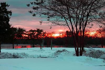 Sunset At The Park Print by Carolyn Ricks