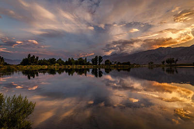 Bishops Photograph - Sunset At The Pond by Cat Connor