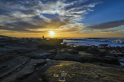 Sunset At The Rocks Print by Joseph S Giacalone