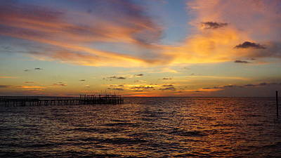 Sunset Bay St. George Island Print by Paul  Wilford