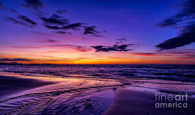 Wales Digital Art - Sunset Beach by Adrian Evans