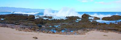 Sunset Beach Crashing Wave - Oahu Hawaii Print by Brian Harig