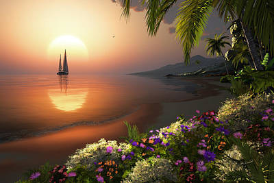 Sunset Beach Original by John Robichaud