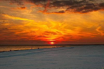 Sunset Beach New York Print by Chris Lord