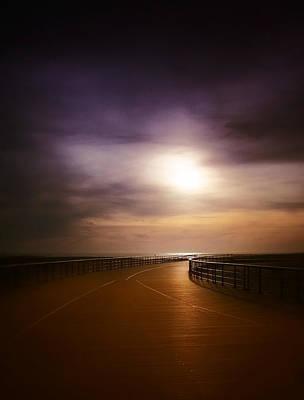 Babylon 5 Photograph - Sunset Boardwalk by Vicki Jauron