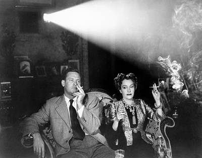 1950s Movies Photograph - Sunset Boulevard, From Left, William by Everett