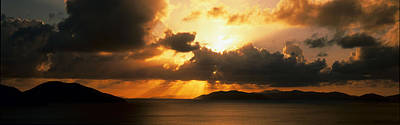 Radiates Photograph - Sunset British Virgin Islands by Panoramic Images