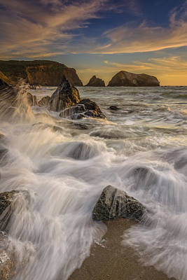Sausalito Photograph - Sunset Churning by Rick Berk