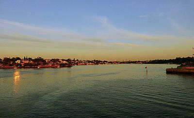 Water Photograph - Sunset City by Girish J