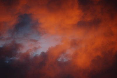 Sunset Clouds I Print by Linda Brody