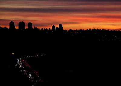 Sunset Commuters Print by Lisa Knechtel