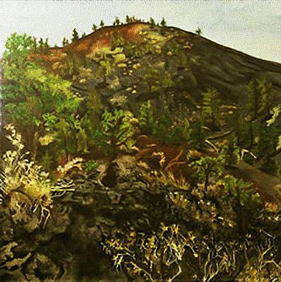 Landscape Painting - Sunset Crater  by Fallon Franzen