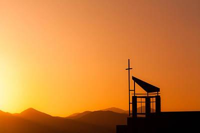 Sunset Cross Original by Teri Virbickis