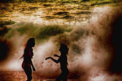 Haleiwa Photograph - Sunset Dance by Douglas Barnard