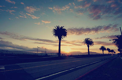San Francisco Street Photograph - Sunset Drive by Laurie Search