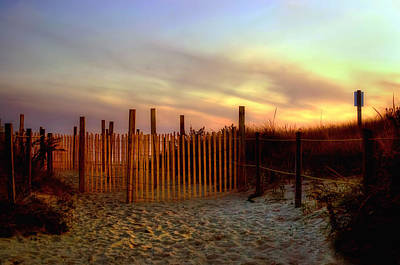 Footprints Photograph - Sunset Dunes - Cape Cod Beach by Joann Vitali