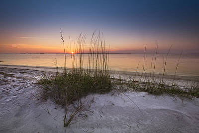 Sunset Dunes Print by Debra and Dave Vanderlaan