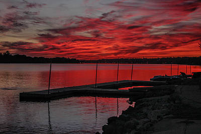 Muscatine Photograph - Sunset For Mark Twain by Ray Congrove