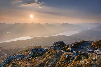 Ben Photograph - Sunset From Ben Lomond by Rod McLean