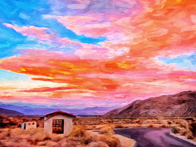 Sunset From Palm Canyon Print by Michael Pickett