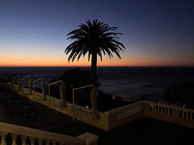 Chateau Photograph - Sunset From Porch Of Ellerman House by Panoramic Images