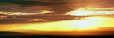 Chelly Photograph - Sunset From The Rim Of Canyon De Chelly by Panoramic Images