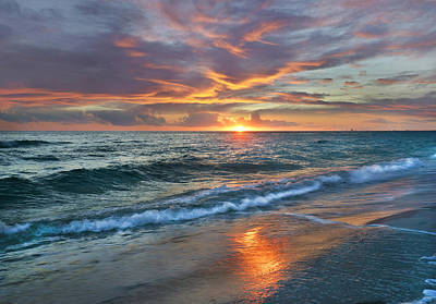 Astronomy Photograph - Sunset Gulf Islands National Seashore by Tim Fitzharris