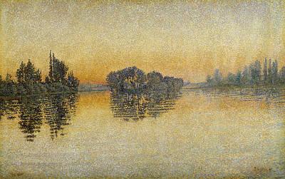 Sunset, Herblay, 1889 Print by Paul Signac