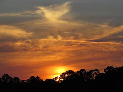 Sky Photograph - sunset II by Zina Stromberg