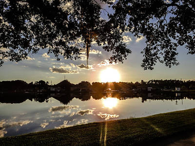 Sunset In Florida Print by Zina Stromberg