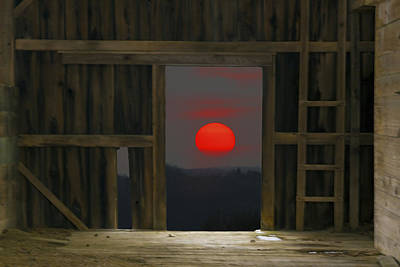 Sunset In Leraysville Print by David Simons