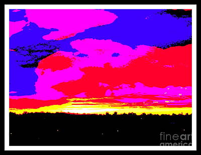 Sunset In Red Blue Yellow Pink Print by Roberto Gagliardi