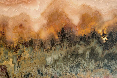 Professional Mixed Media - Sunset In Stone by Leland D Howard