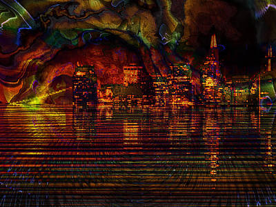 Sunset In The City Print by Kiki Art
