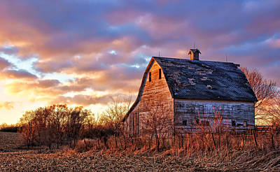 Nebraska Landscape Photograph - Sunset In The Country by Nikolyn McDonald