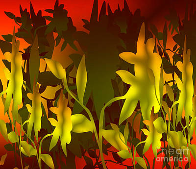 Sunset In The Jungle Print by Gayle Price Thomas