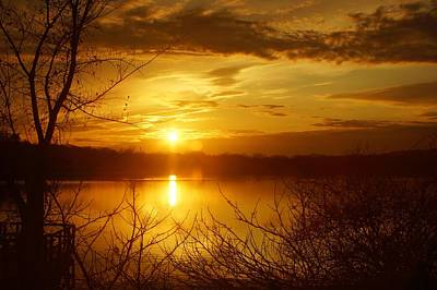 Seascape Photograph - Sunset Lake Galena by Photographic Arts And Design Studio