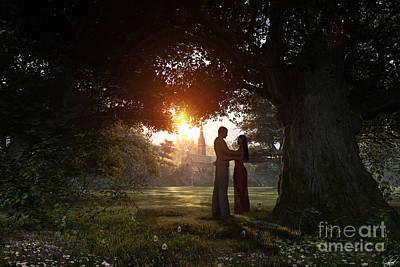 Sunset Lovers Print by Dominic Davison