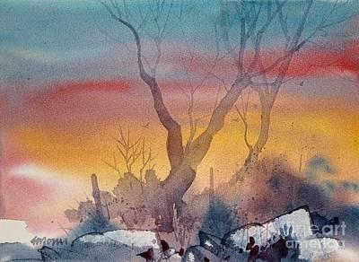 Sunset Print by Micheal Jones