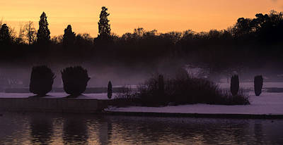 Water Photograph - Sunset Mist by Nick Field
