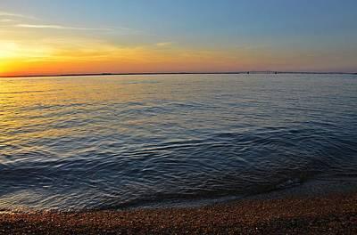 Chesapeake Bay Photograph - Sunset Near Chesapeake Bay Bridge by Marianna Mills
