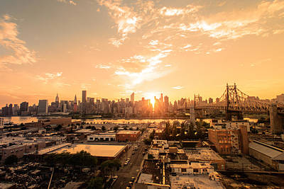 New York City Rooftop Photograph - Sunset - New York City Skyline by Vivienne Gucwa