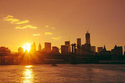Skylines Photograph - Sunset - New York City by Vivienne Gucwa