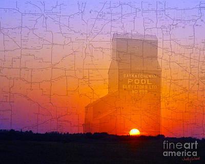 Judy Wood Digital Art - Sunset Of An Era by Judy Wood